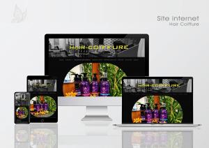 Créa.Com Agence de Publicité, site internet Hair Coiffure