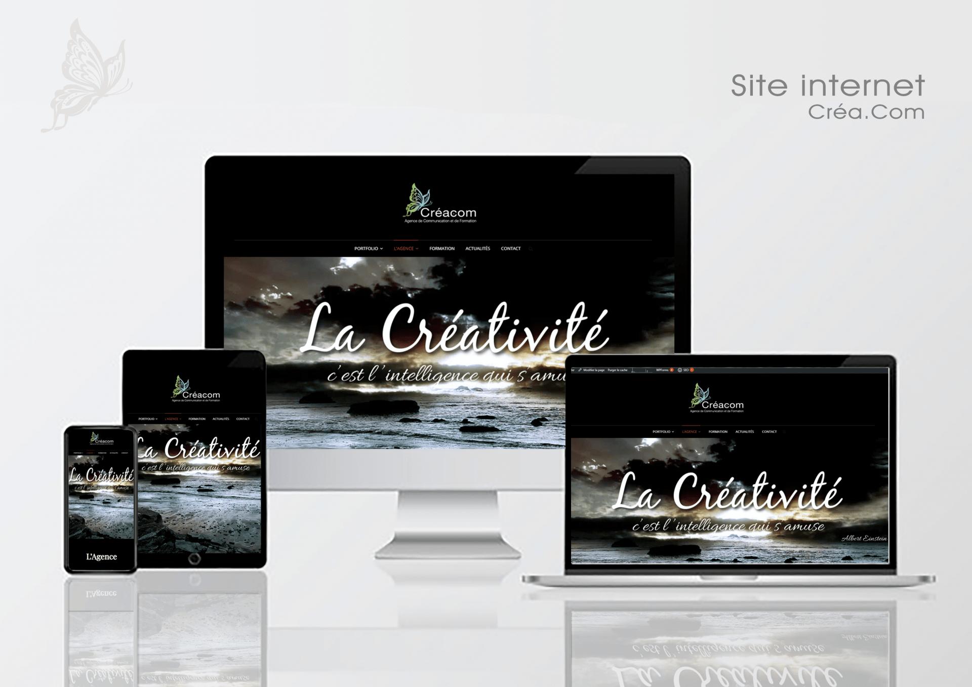 Créa.Com Agence de Publicité, site internet créa