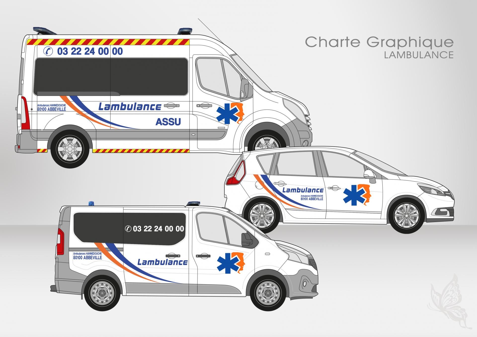 Créa.Com Agence de Publicité, charte graphique LAMBULANCE