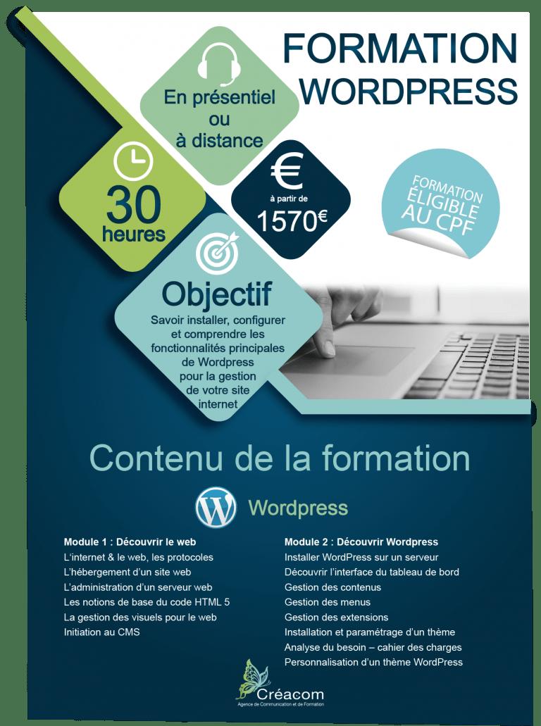 programme formation WordPress